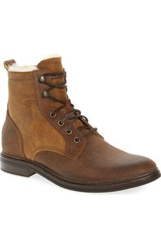 UGG Selwood Genuine Shearling Bomber Boot (Men). #ugg #shoes #boots