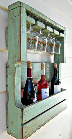 Rustic Wood Wine Rack Pallet Wine Rack by RobsRusticCreations
