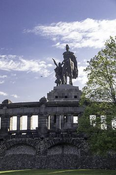 Monument to the first German Head of State in Koblenz, Germany.