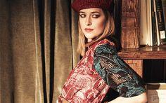 Download wallpapers Dakota Johnson, portrait, american actress, beautiful woman, make-up, dress with flowers