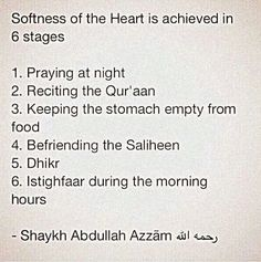 How to soften the heart