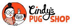 Cindys Pug Shop — logo by Gemma Correll