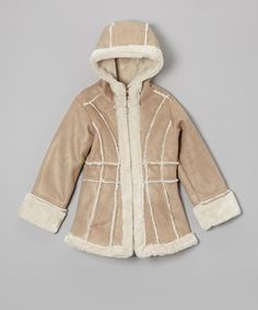 Look what I found on #zulily! Safari Faux Shearling Jacket - Toddler #zulilyfinds