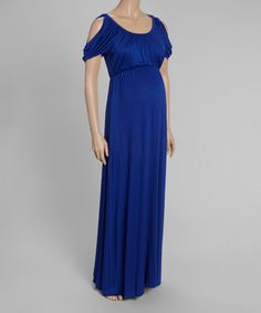 Look at this #zulilyfind! Royal Blue Empire-Waist Maternity Maxi Dress by GLAM #zulilyfinds