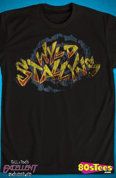 Distressed Wyld Stallyns T-Shirt: Bill and Ted Mens T-Shirt Attention Bill and Ted Geeks:  Travel everywhere  in this men's style shirt that has been designed with great art and illustration.