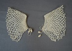 Antique Crochet Lace Cuffs Set with Dainty by dandelionvintage