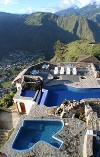 Luna Runtan - a hotel/spa near the hot springs of Banos, Ecuador...about an hour from where I was in January 2012.