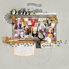 great fall multi-photo scrapbook inspiration from Lori at DesignerDigitals.com