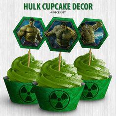 Hulk Cupcake Decor