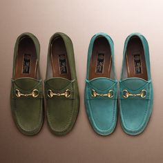 The inimitable Gucci Horsebit Loafer gets a holiday update in richly colored suedes.