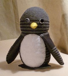 penguin made from a sock