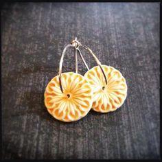 Image of Sunshine Flowers - Porcelain Earrings