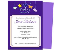 Baby Shower Invitations : Mobile Printable DIY Baby Shower Template