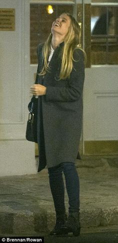 Prince Harry's former girlfriend Cressida Bonas is seen leaving his 31st birthday celebrations in London in the early hours of Wednesday morning