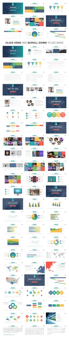 Startup Powerpoint Template by Slidedizer on @creativemarket