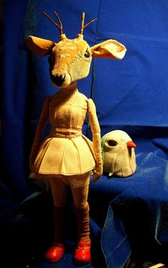 Animal Masks, Animal Heads, Textile Sculpture, Theatre Costumes, Chimera, Cat Doll, Fantasy Costumes, Creepy Dolls, Stop Motion