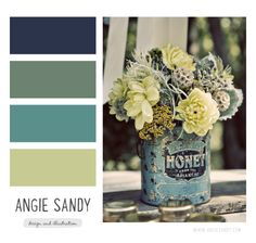 Color Crush Angie Sandy navy blue sage green teal lime love these colors for the living room Wall Colors, House Colors, Paint Colors, Colour Schemes, Color Combos, Living Room Colors, Bedroom Colors, Color Stories, Interior Exterior