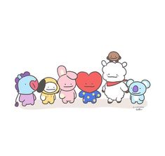 When ditto turned into all of When You Kiss Me, What Is My Life, Bt 21, Bts Drawings, Bts Chibi, Bts Fans, Cute Creatures, Bts Wallpaper, Bts Memes