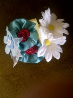 Flower Hair elastics made for my Grand niece