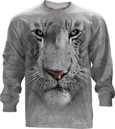 The Mountain - White Tiger Face Long Sleeve Tee, $30.00 (http://shop.themountain.me/white-tiger-face-long-sleeve-tee/)