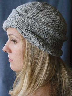 "Nola features a simple but striking twist formed with 1 cable row and a rolled brim that is easily adjusted to change the length of the hat. Knit with 120 (135, 150) yds of bulky-weight yarn at a gauge of 15 sts and 23 rows per 4"" using U.S. 10/..."