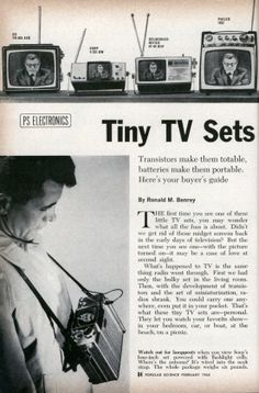 "1965 : Tiny TV Sets are ""In"""