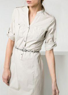 Shirt dress - Dresses - Women - MANGO