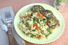 Mediterranean-Spiced Chicken - and Warm Pasta Salad with Sautéed Veggies Warm Pasta Salad, Chicken Spices, Veggies, Ethnic Recipes, Food, Other Recipes, Poultry, Cooking Food, Vegetable Recipes