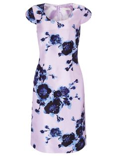 Watercolour Peony Print Dress