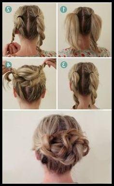 Lockere Hochsteckfrisuren Lange Haare Haarband Anleitung Chignon