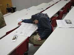 sleeping kid in NSC by rofltosh, via Flickr - sleeping, class, bored, death by powerpoint
