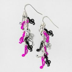 Nathis Purple Colors Fashion Hook Dangle Earrings Valentines Day By Sizzling Silver