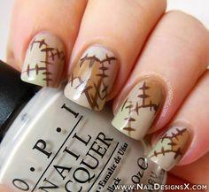 cute nail art for Halloween day - Nail Designs & Nail Art