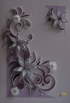 I am in love with these designs!  neli: Quilling card - flowers