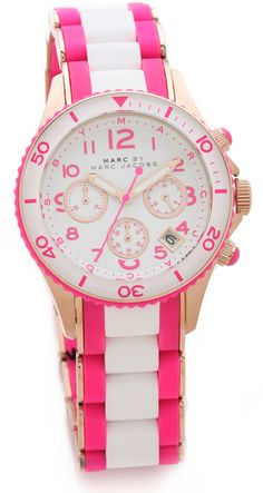 Oh.My.Goodnes. Love this Marc Jacobs Rock Chrono Watch