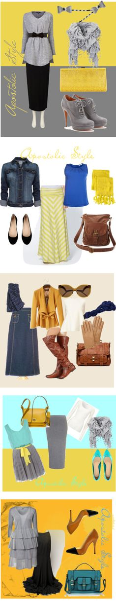 """Mustard! :) Apostolic Style"" by emmyholloway on Polyvore"