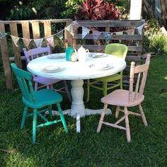 Shabby Chic Table An Chairs On Pinterest Shabby Chic Tables Shabby Chic Ki