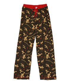 Love this Brown & Red 'Chocolate Moose' Lounge Pants - Women by Lazy One on #zulily! #zulilyfinds
