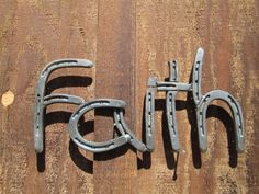 Horseshoe Faith Sign, Rustic Country Western Home Decor  By Rustic and Country, $85.00 Handmade, Made in the USA Wouldn't this be perfect in your dining room with the Love and Faith sign?