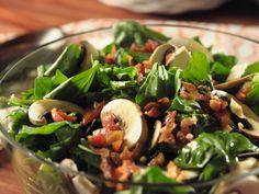 Spinach Salad with Garlic Dressing Recipe : Trisha Yearwood : Food Network - FoodNetwork.com