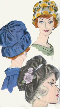 1960s Vintage Sewing Pattern Vogue 5109 MOD Hat by sandritocat, $28.00