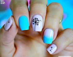 20 Incredible Pantone 2016 Pink and Blue Nail Designs Pantone 2016, Bleu Pantone, Polygel Nails, Blue Nails, Diy Nails, Blue Nail Designs, Best Nail Art Designs, Fall Manicure, Spring Nails