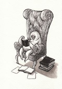 cute drawing by Carrie Liao. i really like the chair..