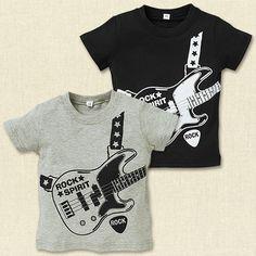 [EFD]BIGギタープリント半袖Tシャツ【80cm・90cm・95cm】[ベビー][ベビーサイズ][男の子][子供服][西松屋]