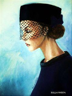 Márta Bolla Transience - Mulandóság Acrylic on canvas - 18 x Hungary Hungary, Painters, Artworks, Portraits, Women, Big Cats, Art Pieces, Head Shots, Portrait Paintings