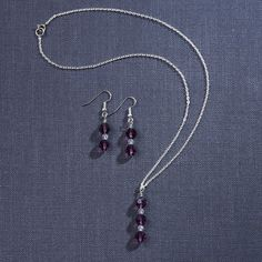 Swarovski Crystal Necklace and Earring Set | #exclusivelyweddings | #bridesmaidgifts