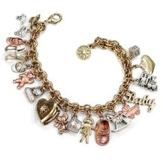 Sweet Romance Vintage Baby Mother Charm Bracelet - Overstock™ Shopping - Big Discounts on Sweet Romance Charm Bracelets Baby Charm Bracelet, Mothers Bracelet, Locket Bracelet, Vintage Charm Bracelet, Locket Charms, Heart Locket, Vintage Jewelry, Charm Bracelets, Vintage Lockets