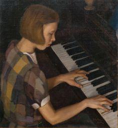 Jēkabs Belzēns Meitene pie klavierēm // A Girl at the Piano Piano, Musicals, Art, Art Background, Kunst, Pianos, Performing Arts, Art Education Resources, Musical Theatre