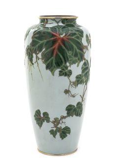 A Japanese Cloisonne Enamel On Silver Vase, Ando Studio.