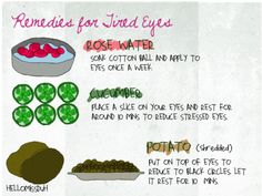 Remedies for tired Eyes